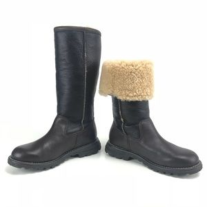 Ugg Brooks Leather Sheepskin Convertible Boots